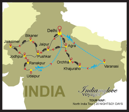 map_North-India-Tour